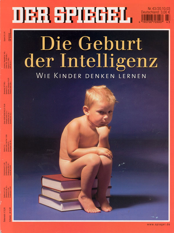der spiegel titelcover zur titelgeschichte die geburt der intelligenz wie kinder denken. Black Bedroom Furniture Sets. Home Design Ideas